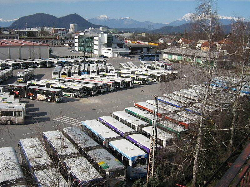Парк городских автобусов в Словении