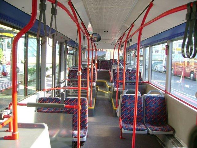 Городской автобус в Словении интерьер