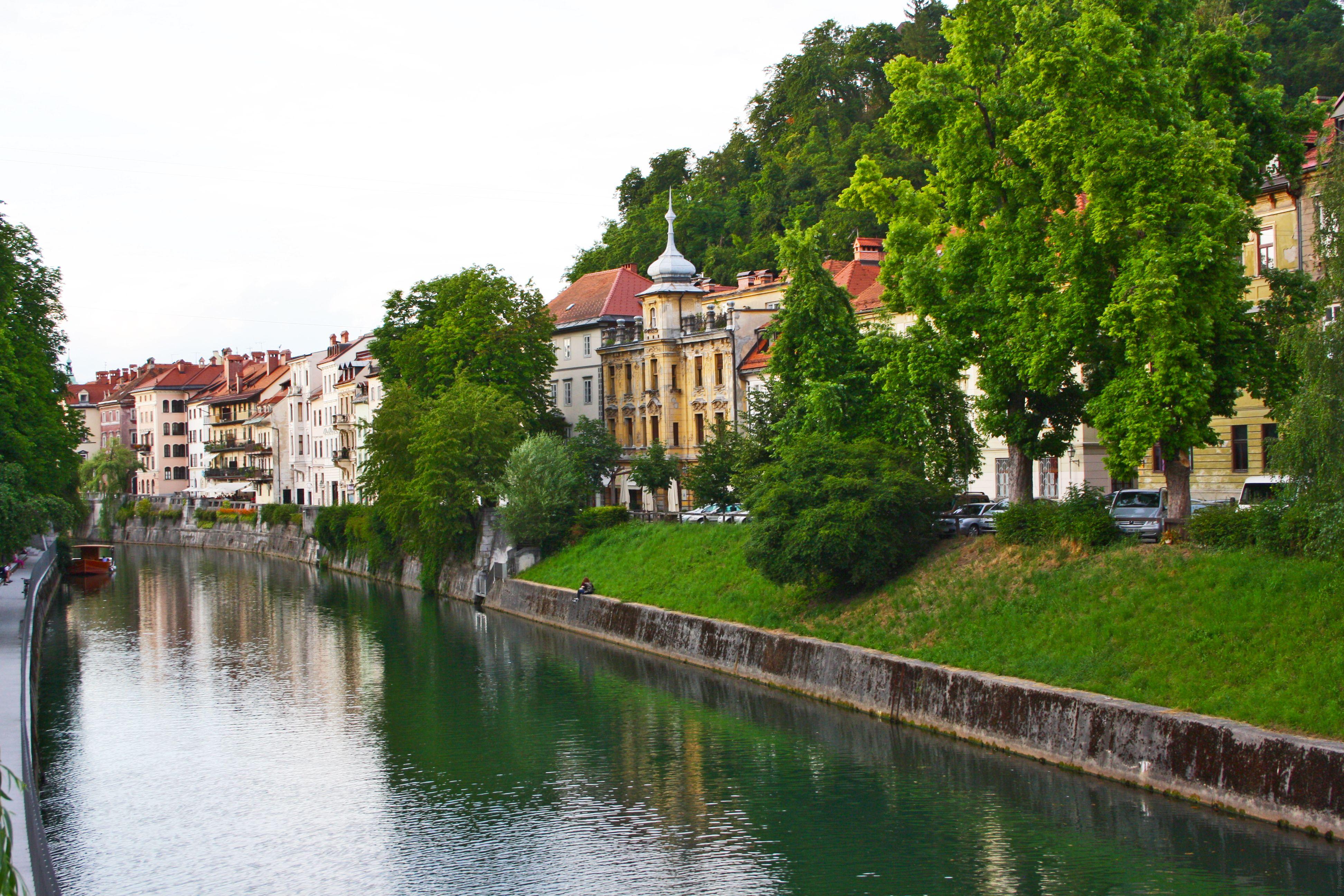 Река Любляница, Любляна, Словения