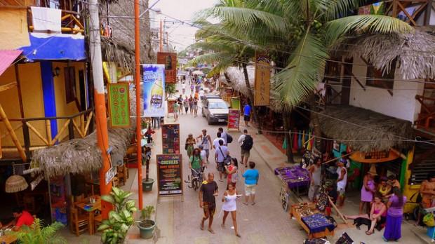 Montañita улица