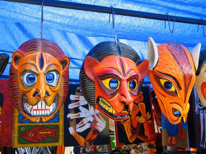 маски, отпугивающие злых духов