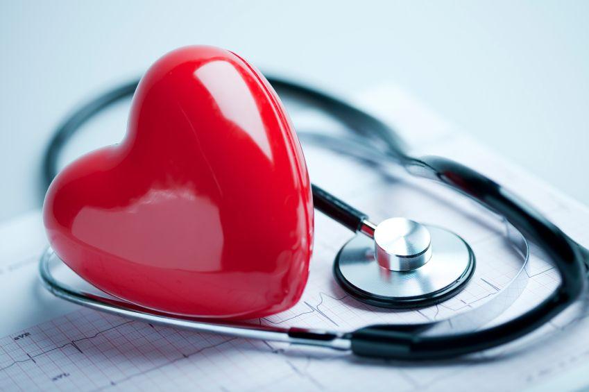 Heart, stethoscope