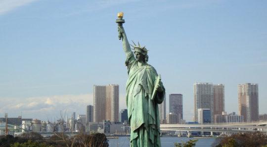 Статуя Свободы «присоединилась» к протестам против иммиграционных указов Трампа