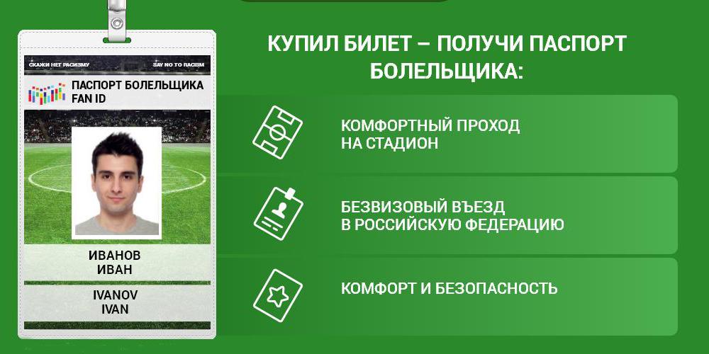 РФ приступила к выдаче паспортов футбольного болельщика