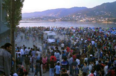 В порту греческого острова Лесбос мигранты перекрыли несколько терминалов