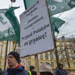 Митинг в Польше против украинских мигрантов