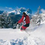 Катание на лыжах по итальянским Альпам